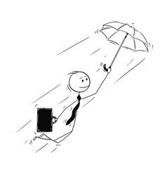 Conceptual cartoon businessman creative vector