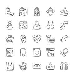Creative doodles for shopping vector