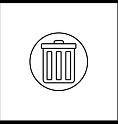 delete and bin line icon mobile sign and garbage vector image