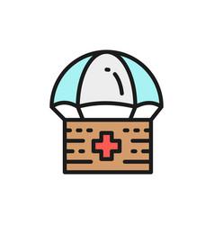 donation parachute box first aid kit vector image