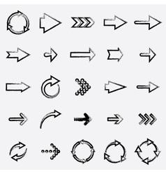 drawing arrows vector image