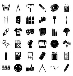 Dye icons set simple style vector