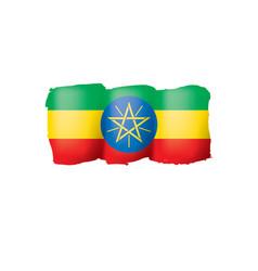 ethiopia flag on a white vector image