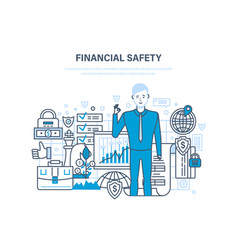finance security and payment safety insurance vector image