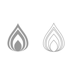 fire it is black icon vector image