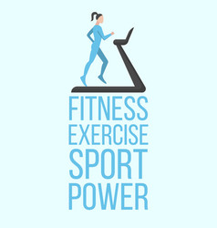 Fitness exercise sport power banner vector