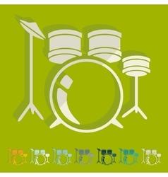 Flat design drum set vector
