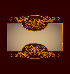 Golden vintage frame template vector
