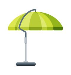 Green sunshade umbrella modern garden furniture vector