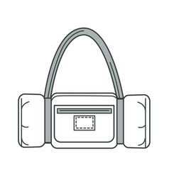 handbag or sport bag isolated outline icon vector image