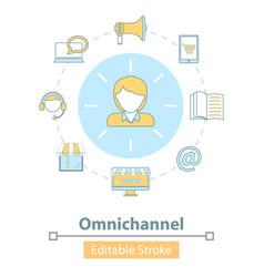 icon cross-channel omnichannel online vector image