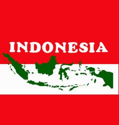 indonesia geometric concept design vector image