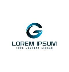 letter g technology logo design concept template vector image
