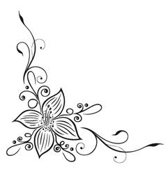 Lily border vector