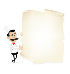 List menu on a parchment vector