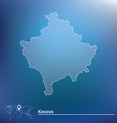 Map of Kosovo vector