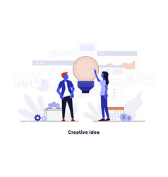 modern flat design concept - creative idea vector image