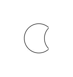 moon line icon vector image
