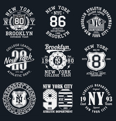 new york typography print vector image