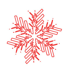 outline snowflake shape vector image