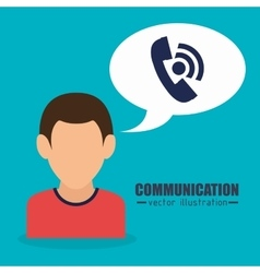 People communicating concept icon vector