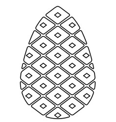 pine cone contour vector image