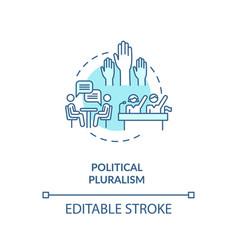 Political pluralism concept icon vector