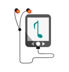 Portable music player icon image vector