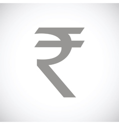 Rupee black icon vector