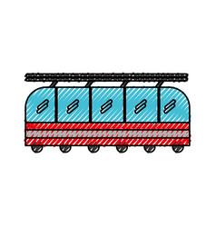 Scribble cute train cartoon vector
