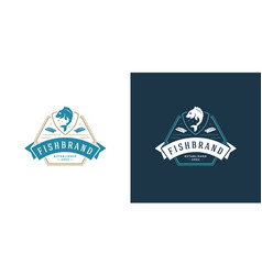 Seafood logo or sign fish vector