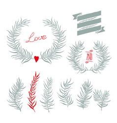 set decoration vector image