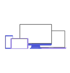 Set mockups devices vector
