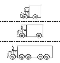 Set of cargo trucks vector image