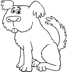 Sheepdog shaggy dog for coloring book vector image