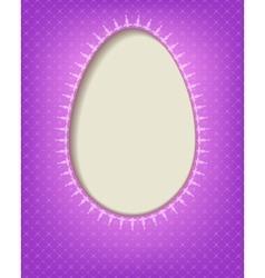Silhouette Easter eggs vector