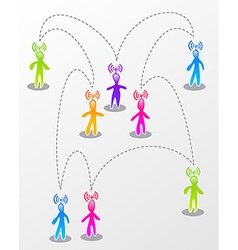Speech social media interaction vector image