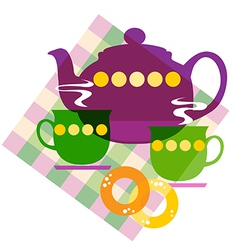 Tea things vector