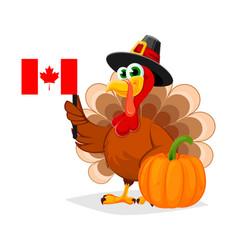 Thanksgiving day funny cartoon character turkey vector