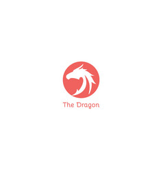 the dragon logo design symbol dan icon template vector image