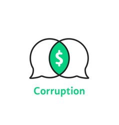 thin line simple corruption logo vector image