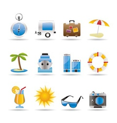 Travel and trip icons vector