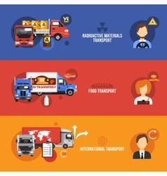 Truck Banners Set vector image