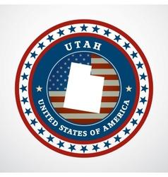 Vintage label Utah vector image