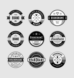 Vintage logo badges vector