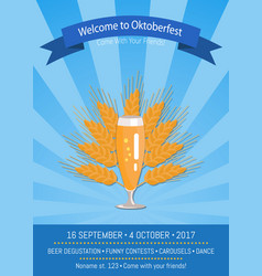 Welcome to oktoberfest poster vector