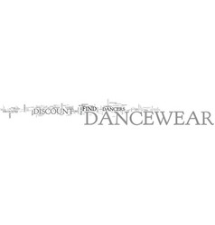 where can i go to buy discount dancewear text vector image