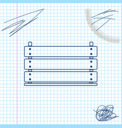 wooden box line sketch icon isolated on white vector image