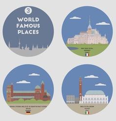 World famous places vector