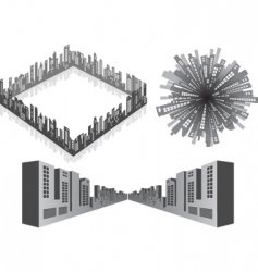 3d cityscape vector image vector image